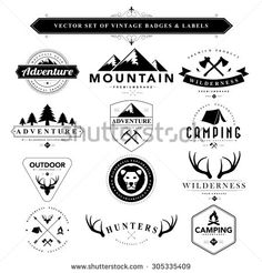vintage camping font - Google Search