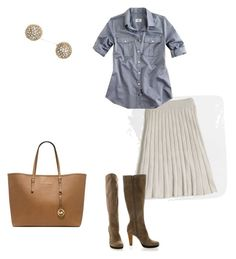 """""""Untitled #142"""" by smag ❤ liked on Polyvore featuring J.Crew and Michael Kors"""