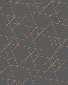 Brown Beige Metallic Wallpaper Maze 3D Matrix Style P/&S Vinyl Paste The Wall