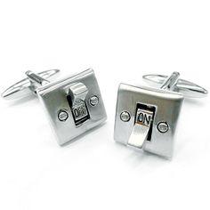 Light Switch Cufflinks by allCool on Etsy, $21.99