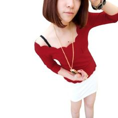 Allegra K Pullover Long Sleeve Front Mini Pocket Casual Spring Top Shirt for Lady Red XS Allegra K. $8.30