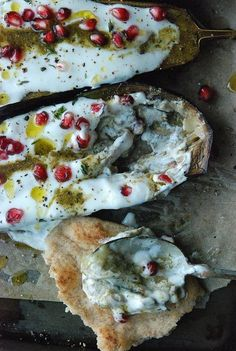 Eggplant with Yogurt Sauce recipe, adapted from Plenty by Yotam Ottolenghi / photo: Stephanie Meyer, recipe: Dara & Co./Minnesota Monthly Magazine; armenian + middle eastern food