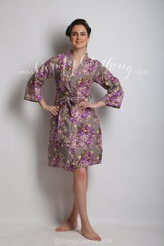 61ea32313b Personalized Floral Cotton Kimono Robes by JoyfulTidingsBridal ...