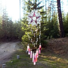 Moon Star wind chime by JewelsCharmingChimes on Etsy, $86.00