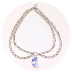 Iridescent moon - heavy double chain choker