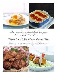 Week Four of my free 7 Day Keto and Low Carb Menu Plans and Shopping Lists - join our community of losers!!