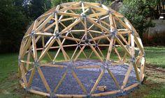 Finished dome framework