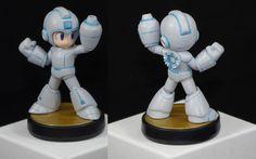 Mega Man Original Tron Version Custom Nintendo Amiibo Super Smash Bros | eBay
