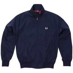 Fred Perry Harrington Jacket Navy Fred Perry Harrington Jacket, Skinhead Clothing, Adidas Jacket, Coat, Sneakers, How To Wear, Jackets, Shopping, Navy
