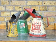 oil cans would make a fun vase for wildflowers.