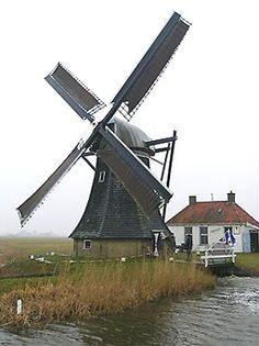 Polder mill Beabuorster Mole / De Babuurstermolen, Tjerkwerd, The Netherlands