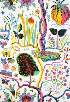 Josef Frank This design looks so simple but is so intricate - stunning