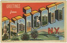 Vintage Endicott, NY postcard