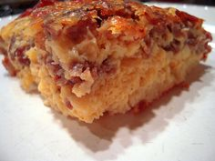 Sauage & Egg Casserole with Bisquick instead of bread