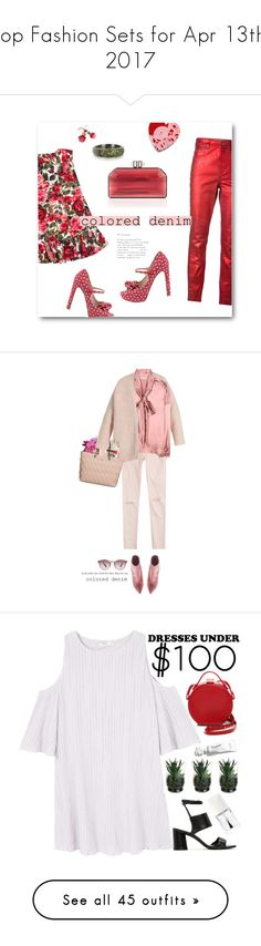 """Top Fashion Sets for Apr 13th, 2017"" by polyvore ❤ liked on Polyvore featuring Dolce&Gabbana, Étoile Isabel Marant, Laurafallulah, Judith Leiber, Azhar, Miu Miu, Vika Gazinskaya, AG Adriano Goldschmied, Balenciaga and Salvatore Ferragamo"