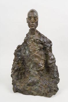 "Alberto Giacometti ""Bust of a Man (Lotar II)"" c. Bronze x x 25 (Fondation Giacometti) Alberto Giacometti, Max Ernst, Henri Matisse, Abstract Sculpture, Sculpture Art, Post Impressionism, Rodin, Fine Art Gallery, Love Art"