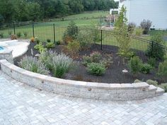 Wall Seating, Patio Seating, Garden Seating, Patio Plans, Patio Wall, Brushes, Deck, Backyard, Landscape
