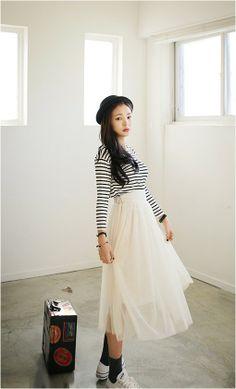 Lovely lace skirt  #skirt #kooding