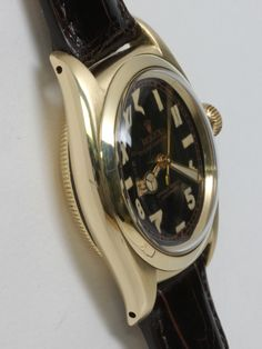 Rolex Yellow Gold Bubbleback Wristwatch with California Dial circa 1940s image 2