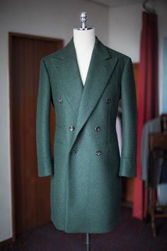 Green heavy wool double coat