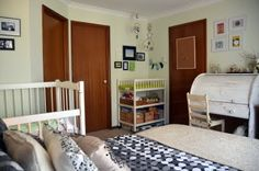 51 best shared master bedroom and nursery images on Pinterest ... Nursery In Master Bedroom on crib in our bedroom, nursery in guest bedroom, baby crib in bedroom, nursery sets and collections,