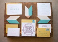 geo invitation suite, photo by Bret Cole http://ruffledblog.com/lake-tahoe-wedding-inspiration #weddinginvitations #stationery