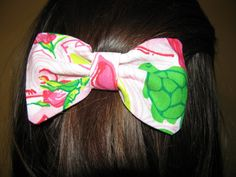 Delta Zeta Lilly Pulitzer Fabric Bow - MEDIUM. $10.00, via Etsy.