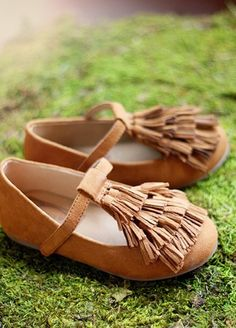 Couture Girls Boho Brown Tassel Shoe Sizes 13, Youth 1, 4, 5, & 6 ONLY