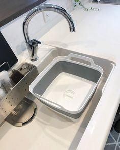 キッチンにあると便利!でも出しっぱなしにはしたくないウォッシュタブ。そんな時にはコレ☆収納できるコンパクトなウォッシュタブをご紹介します♡ シンプルでコンパクト!理想的なキッチン用ウォッシュタブ☆(sato)