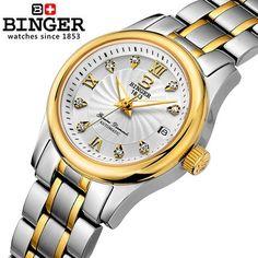 71.89$  Watch now - http://ali4o2.worldwells.pw/go.php?t=32313463940 - Binger Watches Steel strap hour Watch Men Women Geneva Reloj Ladies Clock Relogio Metal wristwatch for women new Clock Feminino 71.89$