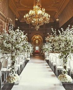 Elegant wedding aisle #piecesandposies