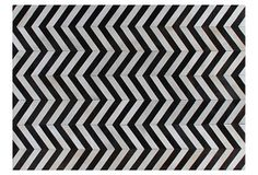 Chevron Hide, Mahogany/White on OneKingsLane.com