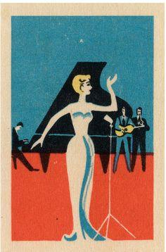 Russian matchbox cover, 1950s