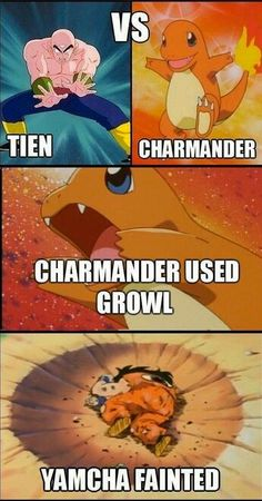 Look Vegeta, it's a Pokemon! I hope I get a critical!