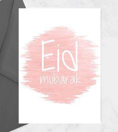 Eid Mubarak Card, Eid Mubarak Greeting Cards, Eid Mubarak Greetings, Late Happy Birthday Wishes, Muslim Culture, Happy Eid, Ramadan, Note Cards, Stationery