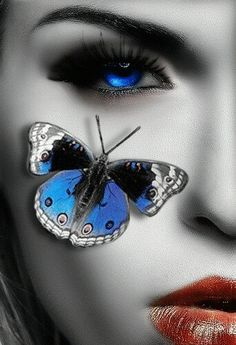 Blue eyes and Butterfly True Blue