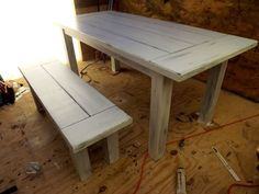 Hand built farm table! Pine never looked so beautiful!