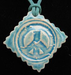 PEACE SIGN  Pendant / Necklace  Ceramic  by InnerArtPeace on Etsy, $10.00
