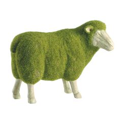 """9.8"""" Resin Moss Lamb made by Topiaries, Outdoor Accents, & More.  LuxeYard.com"""