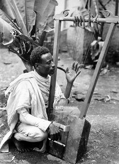 Ethiopia, June An Abyssinian soldier playing a primitive stringed musical instrument during the war with Italy Get premium, high resolution news photos at Getty Images Church Pictures, Old Pictures, African Tribes, African Art, History Of Ethiopia, Lion Photography, Underwater Photography, Ethiopian Beauty, Ethiopian People