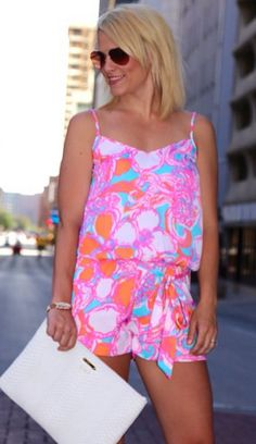 Lilly Pulitzer Deanna Tank Top Romper styled by @caycee07