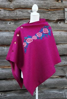 Harris Tweed Mulberry Rose Cape