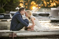 This sweet moment makes our heart smile - SRSLY, these newlyweds are just too cute  Photo by: Green Holly Weddings