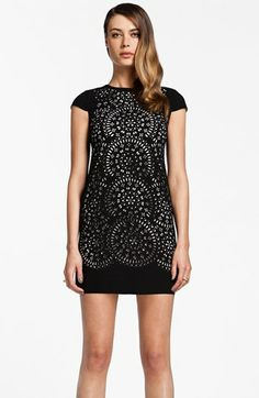 Cynthia Steffe Laser Cut Shift Dress available at #Nordstrom