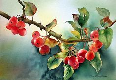 """""""Crab Apples After Rain"""" by Ann Mortimer,"""