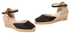 Black wedge espadrilles CARINA