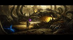 Diablo III Desolate Sands - Cave of the Betrayer by UnidColor.deviantart.com on @DeviantArt