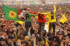 PKK supporters by thousands celebrating Kurdish New Years (Neuroz)