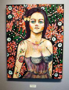 Artist Dana Bloede paintings @ChimMaya Gallery, Los Angeles, CA