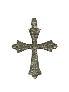 "Ethiopian Coptic Cross Pendant (1.9"" X 1.6"")"